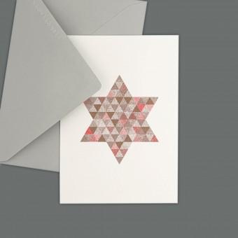 Feingeladen // FLASHY TRIANGLES // Star (CPFR) // RISO-Klappkarte, A6
