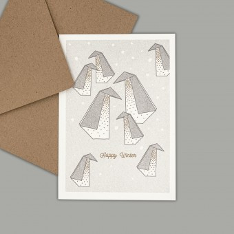 Feingeladen // LIKE ORIGAMI // Penguins »Happy Winter« (GRGD) – A6