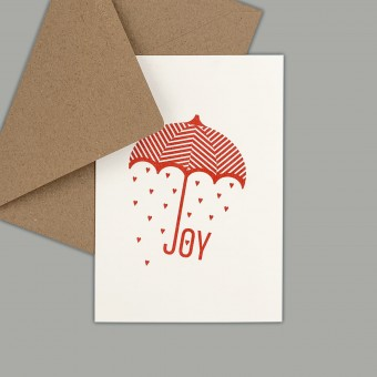 Feingeladen // TYPOGRAFICA // Joy (CR) // RISO-Klappkarte, A6