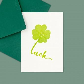 Feingeladen // TYPOGRAFICA // Good Luck (LG) // RISO-Klappkarte, A6