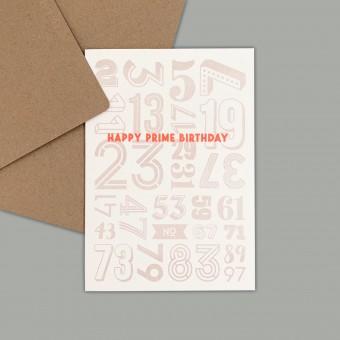 Feingeladen // NUMBERS // »Happy Prime Birthday« (BQFO) // RISO-Klappkarte, A6