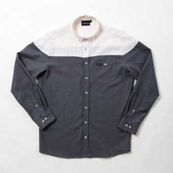 GOODBOIS SCALES BUTTON DOWN SHIRT GRY