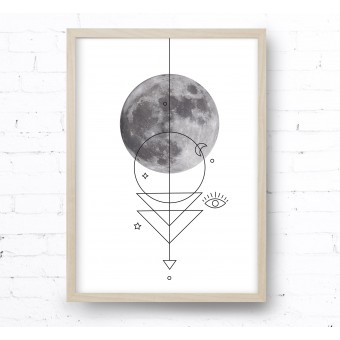 Kruth Design POSTER / GEO MOON