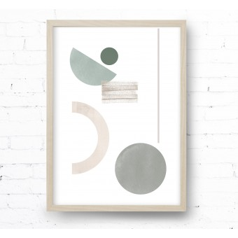 Kruth Design POSTER / GEO ART GREEN