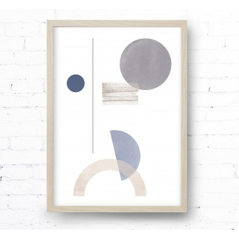 Kruth Design POSTER / GEO ART BLUE