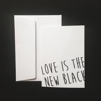 """Love is the new black – Grußkarte """"Scribble"""""""