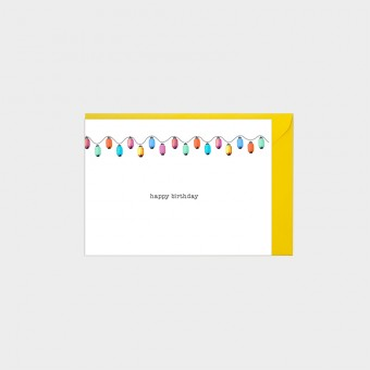 HOOK&EYE Geburtstagskarte 'Lampions' 3er-Set