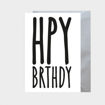 HOOK&EYE Geburtstagskarte 'HPY' 3er-Set