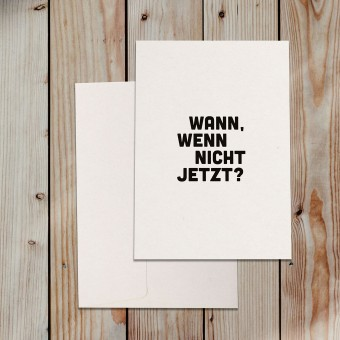 "Love is the new black – Grußkarte ""Wann"""