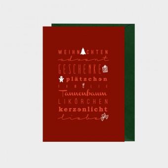 HOOK&EYE Grußkarte 'Weihnachten' 3er-Set