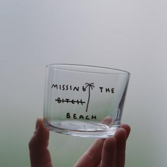 MISSING THE BEACH Glas – Johanna Schwarzer