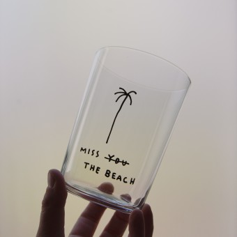MISS THE BEACH Glas – Johanna Schwarzer