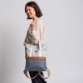 MULINU 3-in-1-Rucksack UNIQUE GRETA Hellgrau