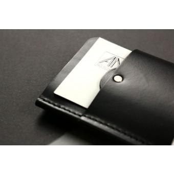 Alexej Nagel Gentleman Slim Wallet aus Premium Leder - schwarz
