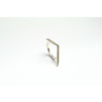 """Ring """"GEKNICKT""""  aus 925/- Silber"""