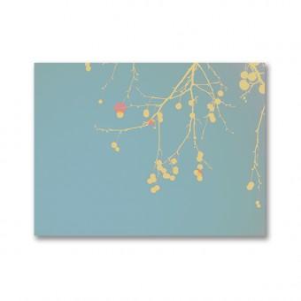 """ZEITLOOPS """"Gelbe Äste mit Rot"""", Fineartprint, 45x60cm"""