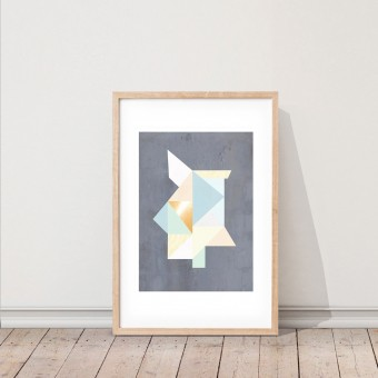 KAMI. poster – geometric forms