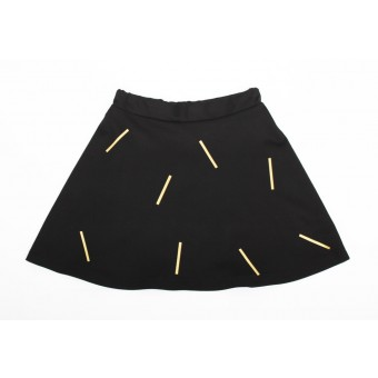 ZITAT Gold Confetti Skirt Black