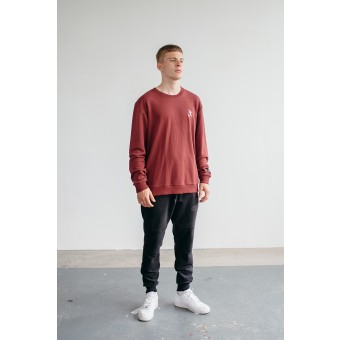 Goodbois Player Icon Crewneck burgundy