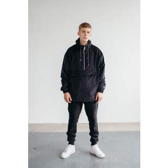 Goodbois Raw Cord Anorak black
