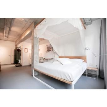 N51E12 - B18 - Designbett aus Massivholz und Stahl - Loft