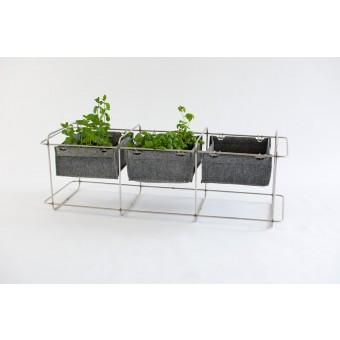 bartmann berlin GRIT mit kleinen Pflanzentaschen - Gartenmöbel