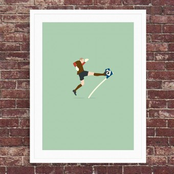 """""""Derby Kick"""" A3 Fußballposter von HANDS OF GOD"""