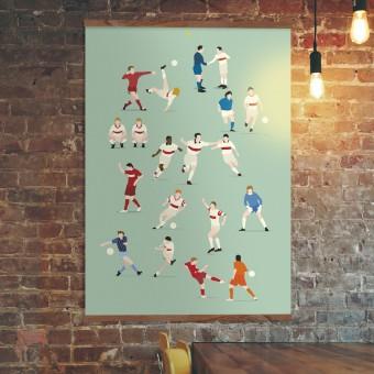 """""""125 Jahre Brustring"""" Fußball-Poster von HANDS OF GOD FOOTBALL"""
