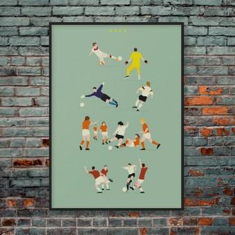 """""""Vier Sterne"""" Fußball-Poster von HANDS OF GOD FOOTBALL"""