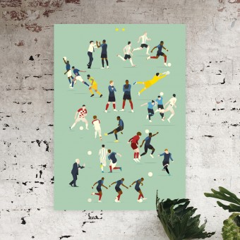 """Champions du Monde"" Fußball-Poster von HANDS OF GOD FOOTBALL"