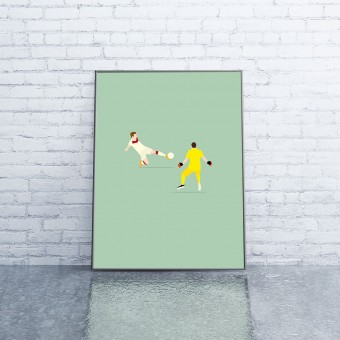 """113 I 2014"" Fußballposter von HANDS OF GOD FOOTBALL"