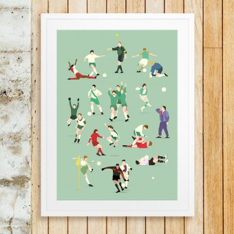 """Bremen Legends"" Fußball-Poster von HANDS OF GOD FOOTBALL"