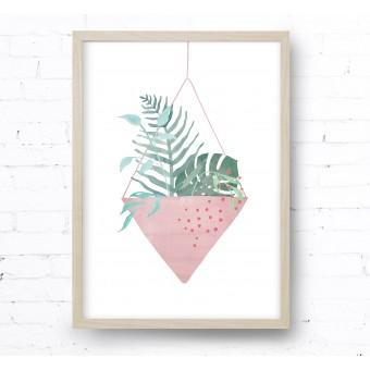 Kruth Design POSTER / HANGING PLANT ROSA