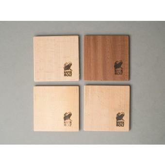 Hafenholz Holzuntersetzer (Set aus 6 Stück)