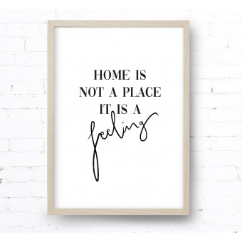 Kruth Design POSTER / HOME IS A FEELING