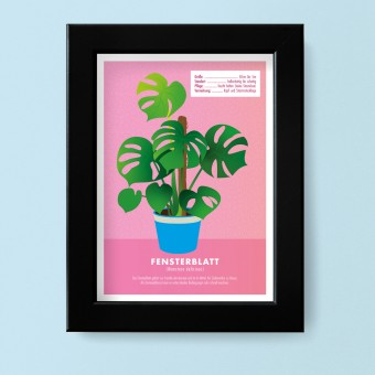 "Hey Urban Monkey - A4 Poster - ""Monstera"""