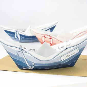 Bow & Hummingbird Grußboote 3er Set mit Umschlägen