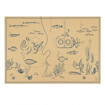 Bow & Hummingbird Geschenkpapier Unterwasserwelt