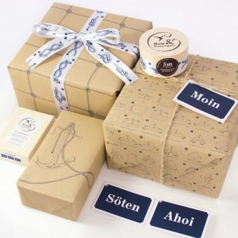 Bow & Hummingbird Maritimes Geschenkverpackungs-Set I