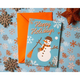 Weihnachtskarte »Happy Holidays« // Papaya paper products