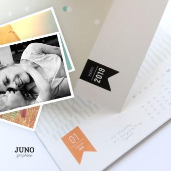 JUNOgraphics 2019 Fotokalender, Bastelkalender, A4 DIY Kalender