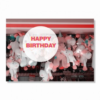 "ZEITLOOPS Postkarte ""Happy Birthday"""