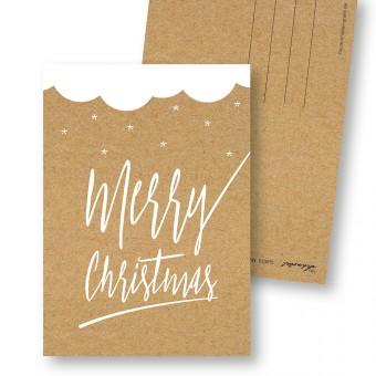 "Frau Schnobel GrafikWeihnachtskarten ""Merry Christmas – C""4er set"