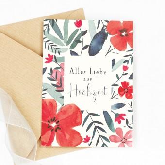 Paperlandscape | Faltkarte | Hochzeitskarte Wildblumen