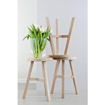"Designhocker ""Lia"" aus Massivholz (Weißöl) - Anton Doll Holzmanufaktur"