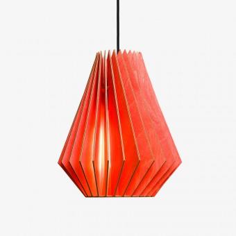 HEKTOR Pendelleuchte aus Holz (rot)
