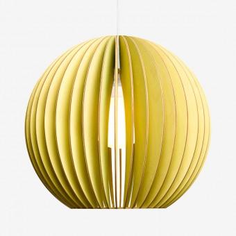 AION L Pendelleuchte aus Holz (gelb)