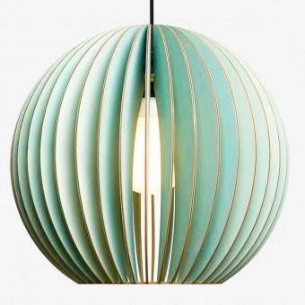 AION XL Pendelleuchte aus Holz (grün)