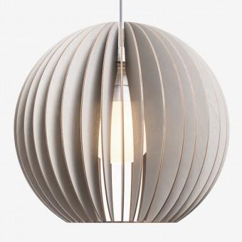 AION XL Pendelleuchte aus Holz (grau)