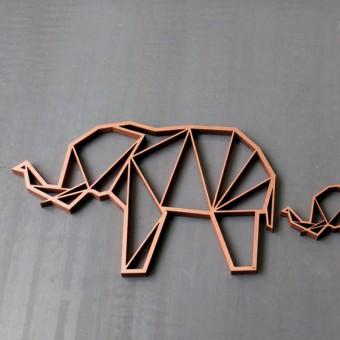 NOGALLERY Elefant Holz Motiv Deko